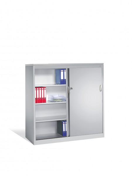 Akten-Sideboard Acurado mit Schiebetüren, 2 x 4 Ordnerhöhen, H1600xB1600xT500mm