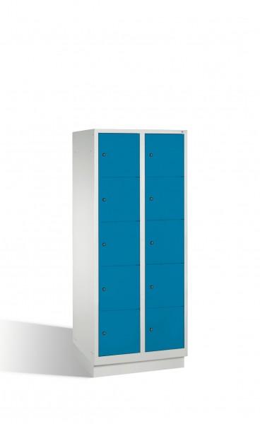 Fächerschrank Classic auf Sockel, 10 Fächer, H1800xB810xT500mm