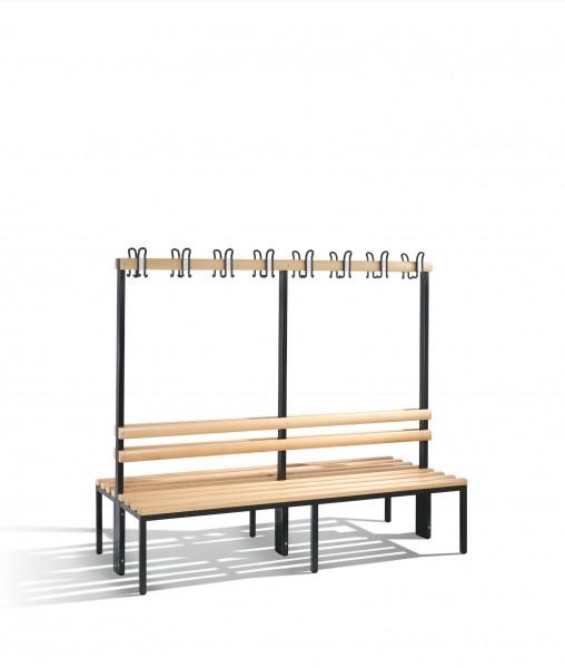 Doppelseitige Garderobenbank Basic, H1650xB1960xT756mm