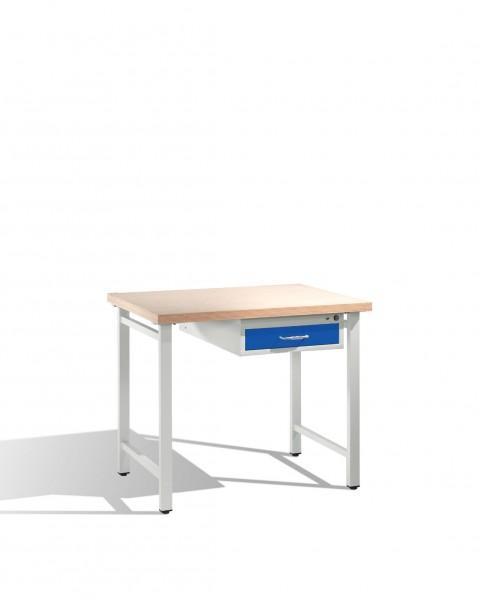 Werkbank mit Multiplexplatte und 1 Schublade 3 HE, H835xB1000xT700mm