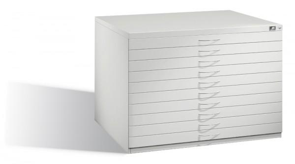 Planschrank DIN A1 mit 10 normalen Schubladen