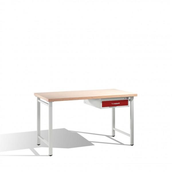 Werkbank mit Multiplexplatte und 1 Schublade 3 HE, H835xB1500xT700mm