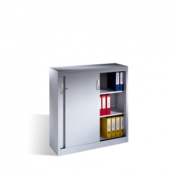Akten-Sideboard Acurado mit Schiebetüren, 3 Ordnerhöhen, H1200xB1200xT400mm