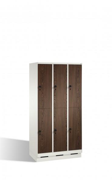 Doppelstockspind Evolo auf Sockel, 6 Fächer, H1800xB900xT500mm