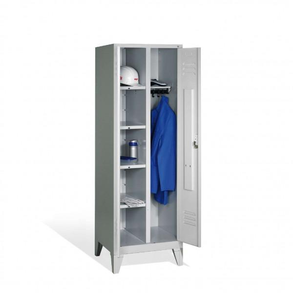 Wäsche-Spind Classic auf Füßen, 2 Abteile, H1850xB610xT500mm