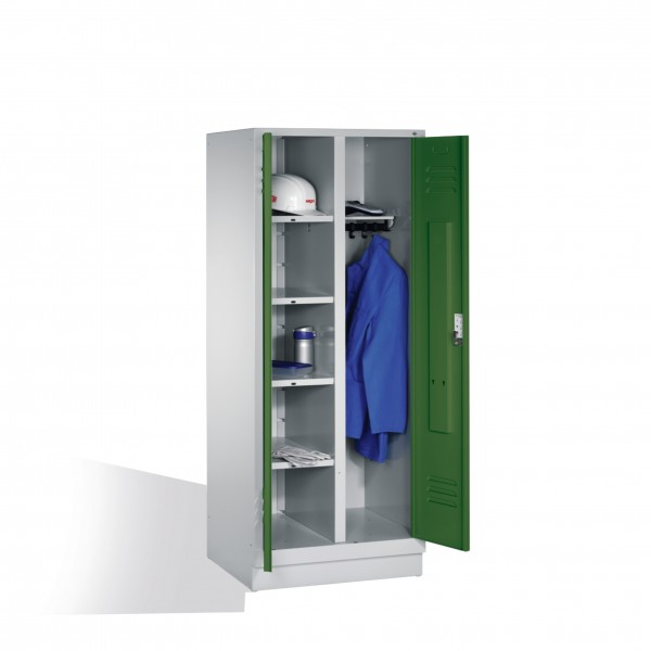 Wäsche-Spind Classic auf Sockel, 2 Abteile, H1850xB810xT500mm