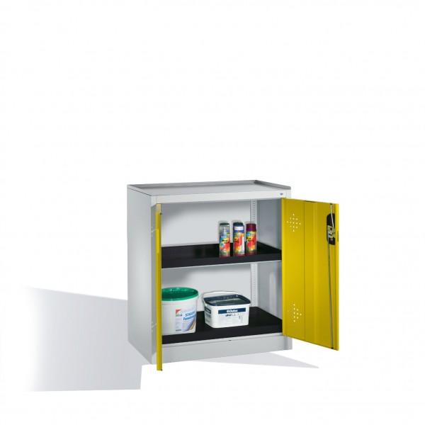 Umwelt-Beistellschrank mit Drehtüren, 2 Polyethylen-Wannen, H1020xB930xT500mm