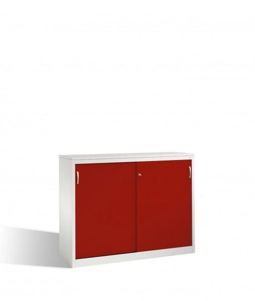 Akten-Sideboard Acurado mit Schiebetüren, 2 x 3 Ordnerhöhen, H1200xB1600xT500mm