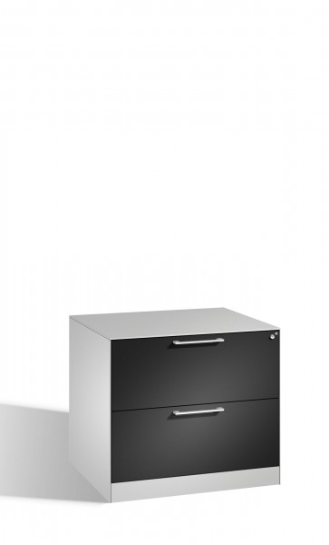 Karteischrank mit 2 Schubladen zweibahnig für DIN A4 quer
