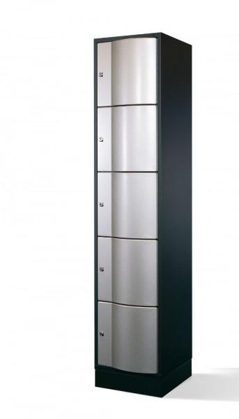 Schließfachschrank Resisto, 5 Fächer, H1950xB396xT540mm
