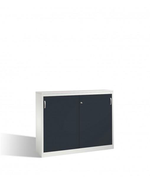 Akten-Sideboard Acurado mit Schiebetüren, 2 x 3 Ordnerhöhen, H1200xB1600xT400mm