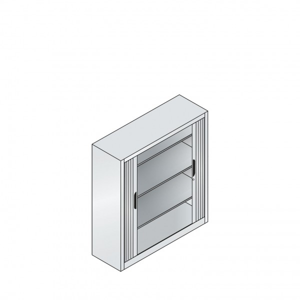 Akten-Sideboard Omnispace mit Rollladen, 3 Ordnerhöhen, H1345xB1200xT420mm