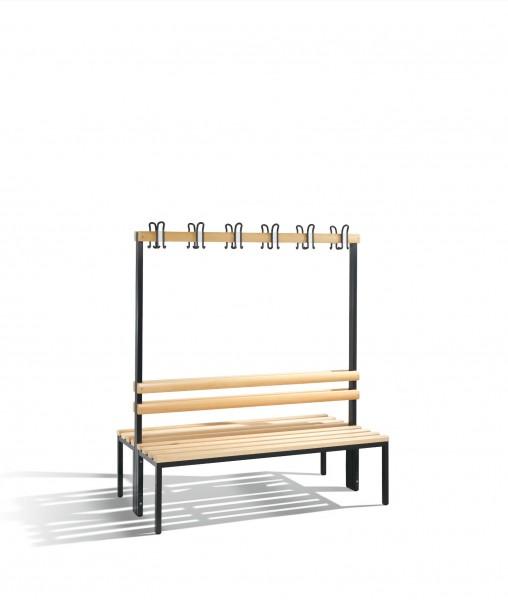 Doppelseitige Garderobenbank Basic, H1650xB1500xT756mm