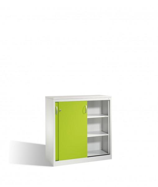 Akten-Sideboard Acurado mit Schiebetüren, 3 Ordnerhöhen, H1200xB1200xT500mm