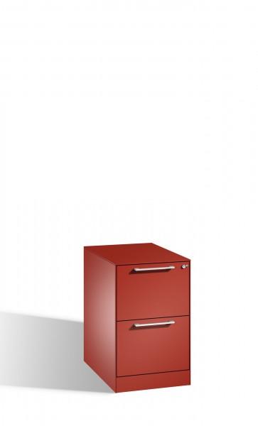 Karteischrank mit 2 Schubladen einbahnig für DIN A4 quer