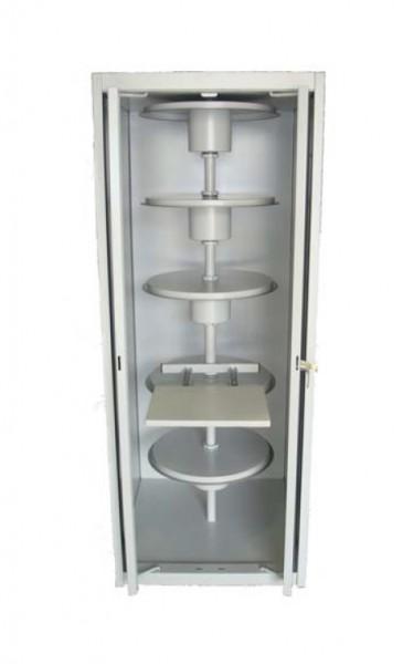 Karussellschrank für vertikale Hängemappen in verschiedenen Höhen