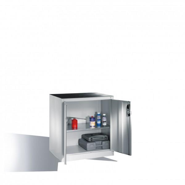 Werkzeug-Beistellschrank mit Drehtüren, innen 1 Boden, H1000xB930xT500mm