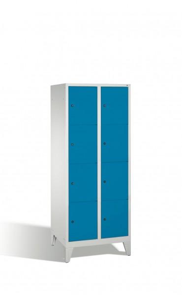 Fächerschrank Classic auf Füßen, 8 Fächer, H1850xB810xT500mm