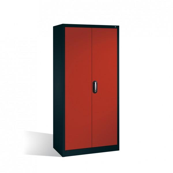 Büroschrank mit Schließfach, Schubladenblock und 2 Hängerahmen Größe: 1950 x 930 x 400 mm (HxBxT)