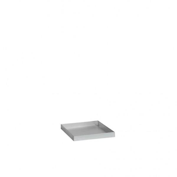 Auffangwanne aus Stahl für Umweltschrank mit Drehtür B500xT500mm