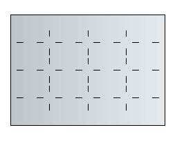 Fachunterteilung 16 x DIN A4 für Planschrank A0