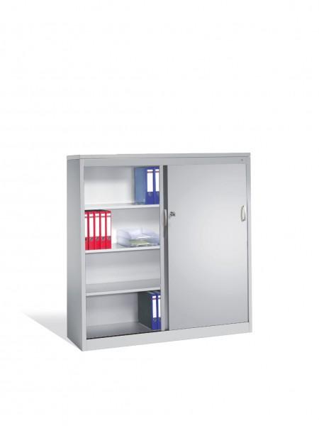 Akten-Sideboard Acurado mit Schiebetüren, 2 x 4 Ordnerhöhen, H1600xB1600xT400mm