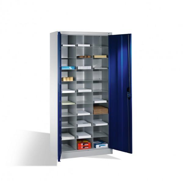 Büroschrank mit 30 Fächern Größe: 1950 x 930 x 400 mm (HxBxT)