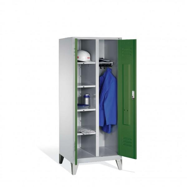 Wäsche-Spind Classic auf Füßen, 2 Abteile, H1850xB810xT500mm