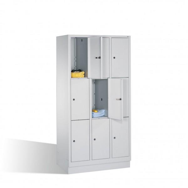 Fächerschrank Classic auf Sockel, 9 Fächer, H1800xB900xT500mm