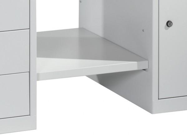 Ablageboden für Werkbank mit zwei Standschränken B1500mm