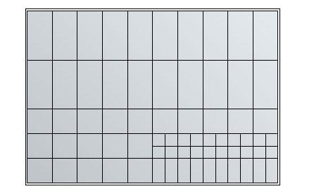 Schubladen-Einteilung mit Kunststoffkästen für Planschrank A1