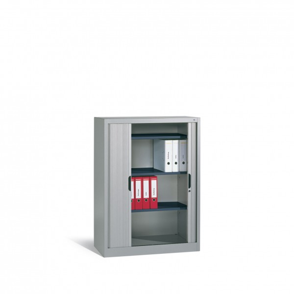 Akten-Sideboard Omnispace mit Rollladen, 3 Ordnerhöhen, H1345xB1000xT420mm