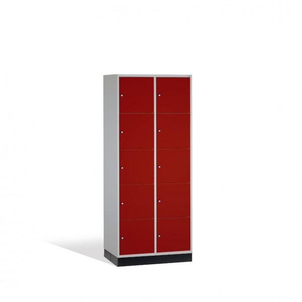 Schließfachschrank Intro XL, 10 Fächer, H1950xB820xT600mm