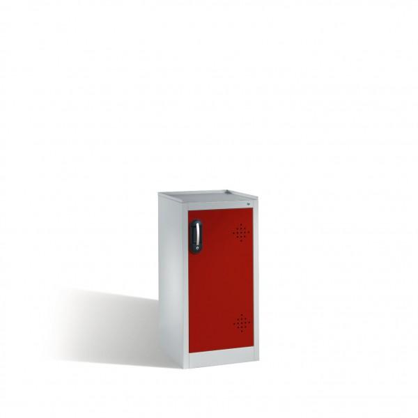 Umwelt-Beistellschrank mit Drehtür, 2 Polyethylen-Wannen, H1020xB500xT500mm