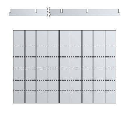 Schubladen-Tiefenteiler für DIN A1 Schubladen