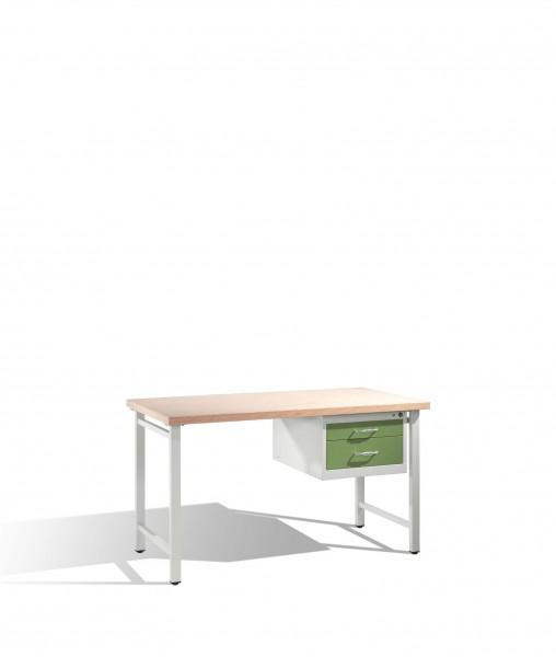 Werkbank mit Multiplexplatte und 1 Schubladenblock 8 HE, H835xB1500xT700mm