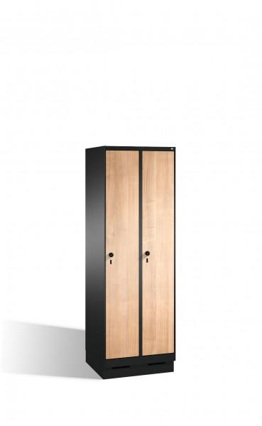 Umkleidespind Evolo auf Sockel, 2 Abteile, H1800xB600xT500mm