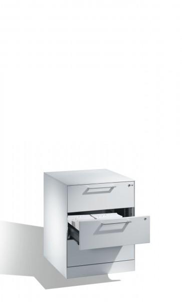 Karteischrank mit 3 Schubladen zweibahnig für DIN A5 quer