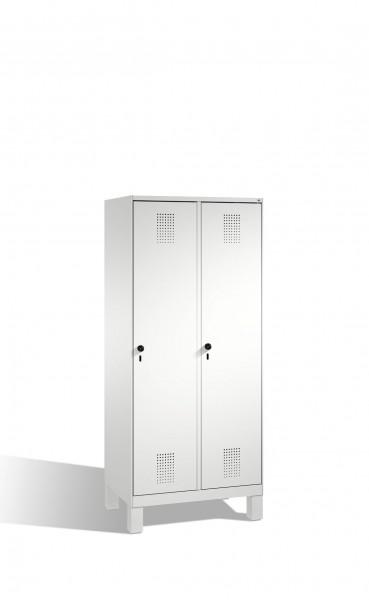 Umkleidespind Evolo auf Füßen, 2 Abteile, H1850xB800xT500mm