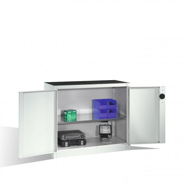 Schwerlast-Beistellschrank mit Drehtüren, innen 1 Boden, H1000xB1200xT500mm