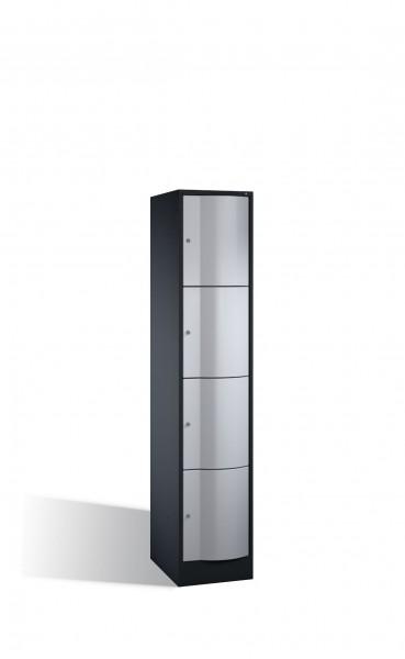 Schließfachschrank Resisto, 4 Fächer, H1950xB396xT540mm