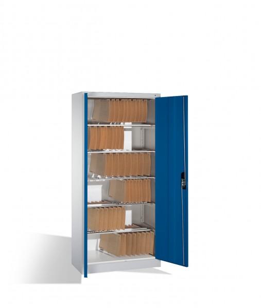 Büroschrank mit 6 Pendelstangen Größe: 1950 x 930 x 400 mm (HxBxT)