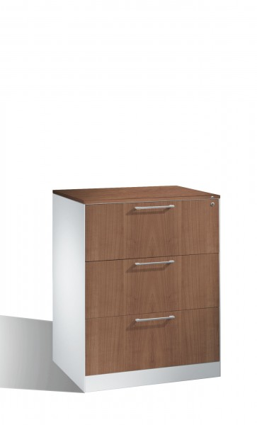 Karteikartenschrank mit 3 Schubladen vierbahnig für DIN A5 hoch; 435 mm flach