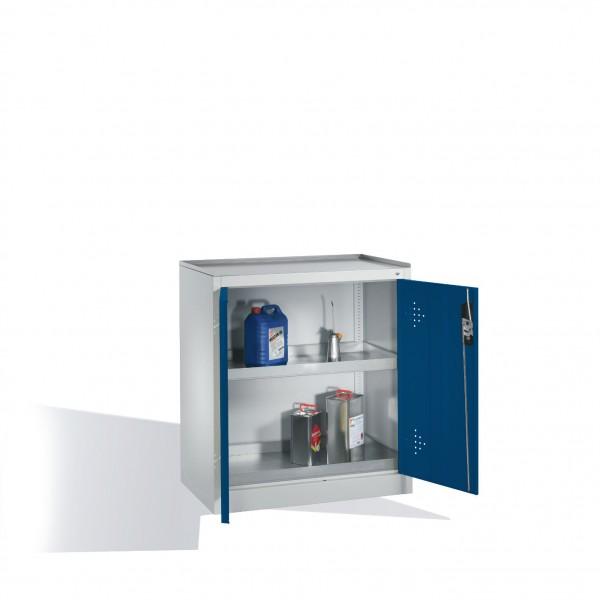 Umwelt-Beistellschrank mit Drehtüren, 2 Wannenböden, H1020xB930xT500mm