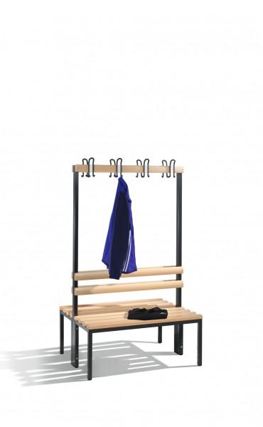 Doppelseitige Garderobenbank Basic, H1650xB1000xT756mm