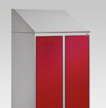 Schrägdachaufsatz 230 mm für Umkleidespind Evolo B600xT500mm