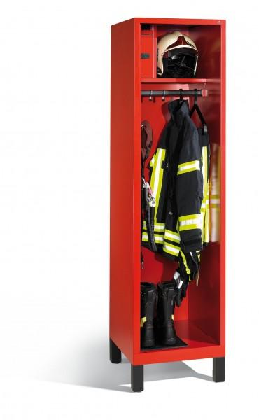 Feuerwehrschrank Evolo mit Wertfach, 1 Abteil, H1850xB520xT600mm